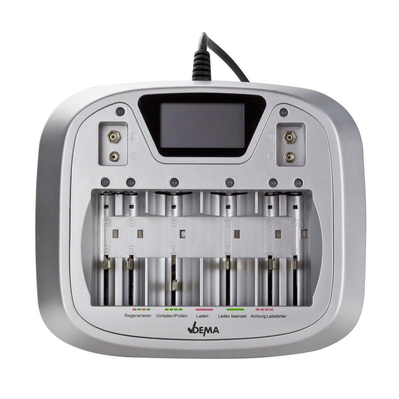 DEMA Elektronická nabíjačka batérií AA/AAA/C/D/9V AL8
