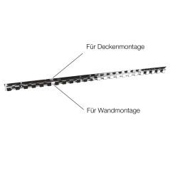 MenaVET Lišta s háčikmi na zavesenie PVC pásu 984x30x32 mm