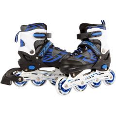 Van Manen Nastaviteľné kolieskové korčule veľkosť 35-38, modrá/čierna