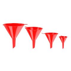 DEMA Lieviky plastové, červené, 4-dielna sada