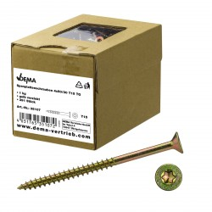 DEMA Skrutky do drevotriesky čiastočný závit 4x50/30 T15, 1 kg