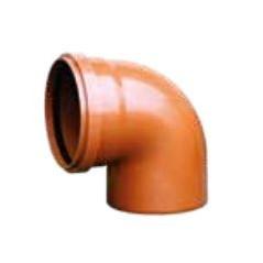 PVC koleno pre kanalizačný systém SN4 100/87°30
