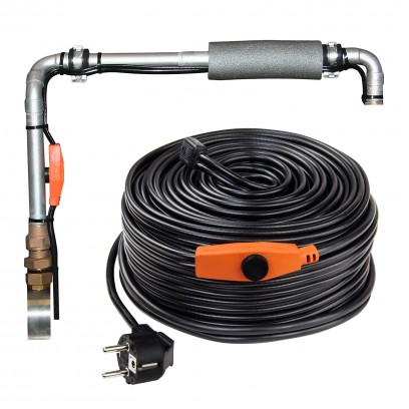 DEMA Vykurovací kábel na ochranu proti mrazom s termostatom 18 m