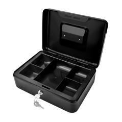 DEMA Kovová pokladnička 25x18x9 cm DGK 250, čierna