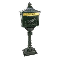 DEMA Poštová schránka na stojane Antik, zelená