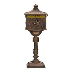DEMA Poštová schránka na stojane Antik, bronzová