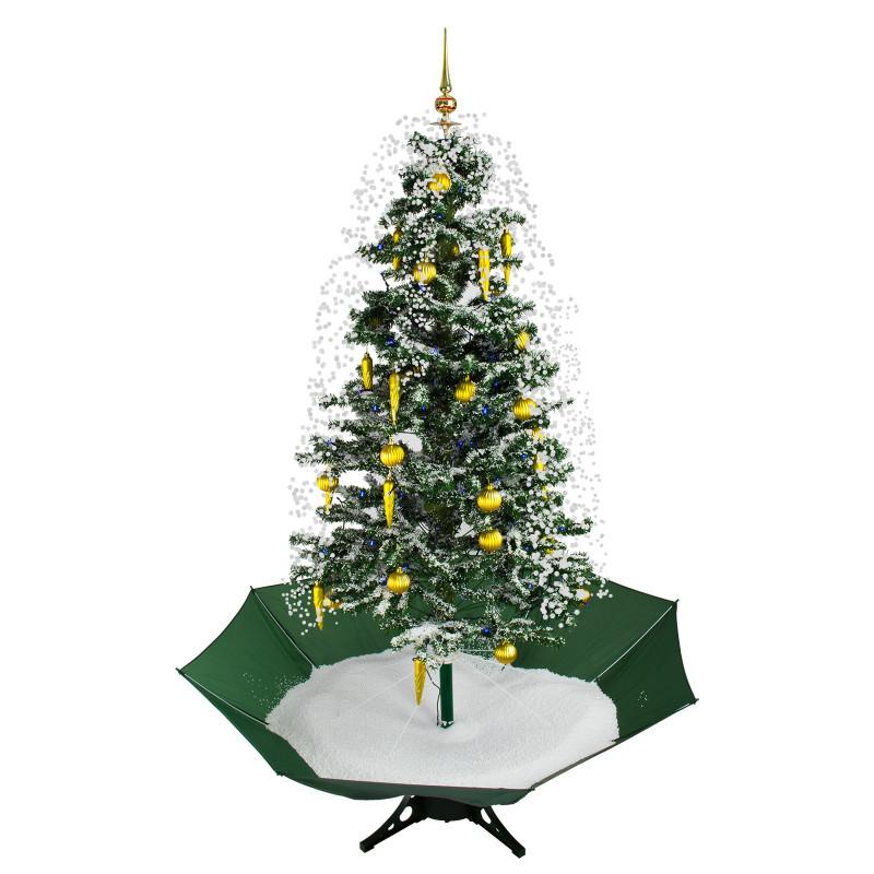 DEMA Vianočný stromček so snežením a ozdobami 145 cm