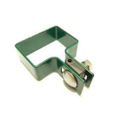 Koncová príchytka panelu na stĺpik ZN+PVC 60x40x4 mm, zelená