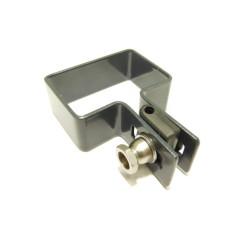 Koncová príchytka panelu na stĺpik ZN+PVC 60x40x4 mm, antracitová