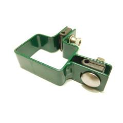 Rohová príchytka panelu na stĺpik ZN+PVC 60x40x4 mm, zelená