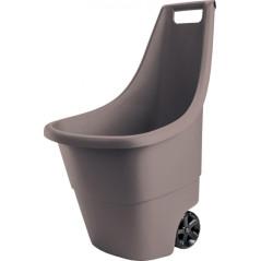 Záhradný vozík EASY GO 50 L, 51x56x84 cm, hnedý