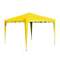 DEMA Záhradný altánok skladací 3x3 m, žltý