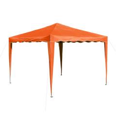 DEMA Záhradný altánok skladací 3x3 m, oranžový