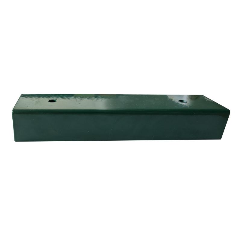 Držiak podhrabovej dosky rovný ZN+PVC U/200/40, zelený