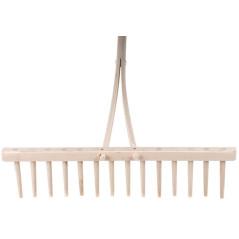 Drevené hrable s násadou, 14 zubov