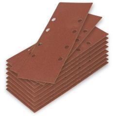 DEMA Brúsny papier pre vibračnú brúsku K80, 10 ks