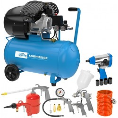 Güde Kompresor 2200 W 10 bar 50 litrov 405/10/50 15-SET, 15-dielna sada