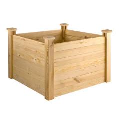 DEMA Vyvýšený záhon drevený 104x104x77 cm Florian