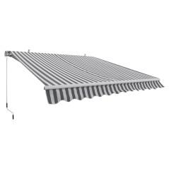 DEMA Alu slnečná markíza 3x2,5 m, sivo-biela