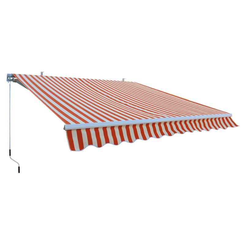 DEMA Hliníková markíza 3x2,5 m, oranžovo-biela