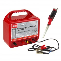 DEMA Elektrický ohradník 12 V 2,5 J do 10000 V Mammut A1200 LED