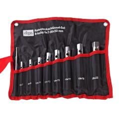 DEMA Rúrkové kľúče obojstranné 6-20 + 22 mm, 8-dielna sada