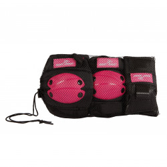 Chrániče pre deti na športovanie, veľkosť M, ružové, 6-dielna sada