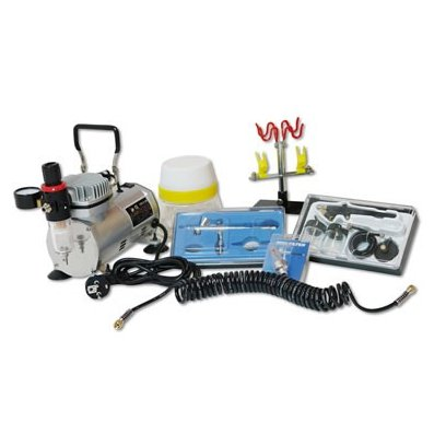 Set s kompresorom airbrush 7-dielny