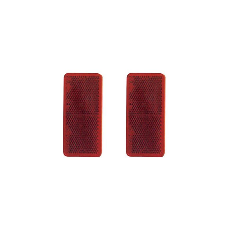 Svetlo spätné 95 x 38 mm červené
