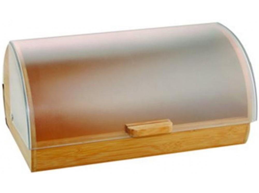 Chlebník drevený s plastovou pokrievkou